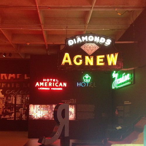 really enjoyed this tough-to-photograph exhibit on neon at the Museum of Vancouver. #latergram