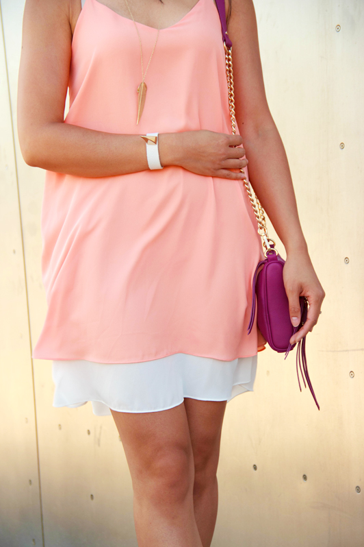 HRH Collection tank dress, Sam Edelman Dion sandals, H&M mirrored aviator sunglasses, Seattle, Nordstrom Rack, EMP Museum, summer, fashion, style, blogger, Danier cross body bag, HRH Collection Spike It Rich bracelet