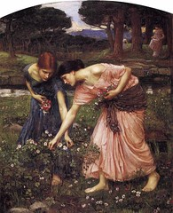 Gather Ye Rosebuds While Ye May. By John William Waterhouse