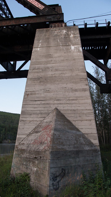 tanana river RR bridge at nenana, AK