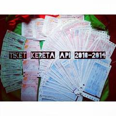 Tiket Kereta Api 2010-2014. Malang-Sidoarjo PP. Saksi dari perjalanan panjang. Perubahan bentuk, warna dan ukuran tiket kereta. #ptkai #tiket #kereta #InstaMagAndroid