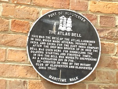 Photo of Atlas Bell, Gloucester black plaque