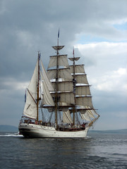 sail, sailboat, sailing ship, vehicle, ship, sea, training ship, full-rigged ship, mast, barquentine, tall ship, watercraft, boat, barque,