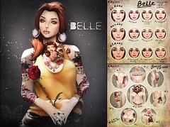 Belle. Skin&Tattoos gacha.