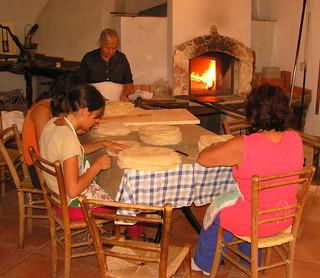Carta di musica, el pan típico de la isla.