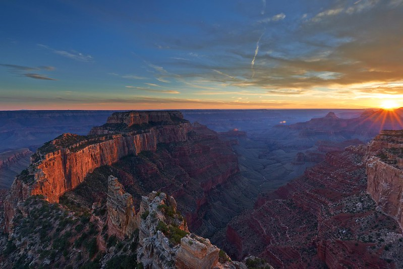Sunset Wotans Throne - Grand Canyon National Park