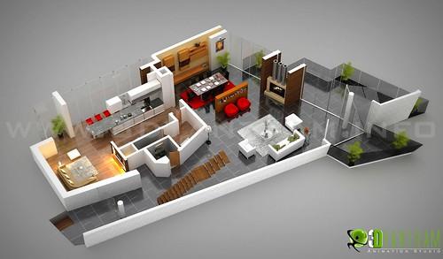 Office Floor Plan 3d 3d Floor Plan Office Design