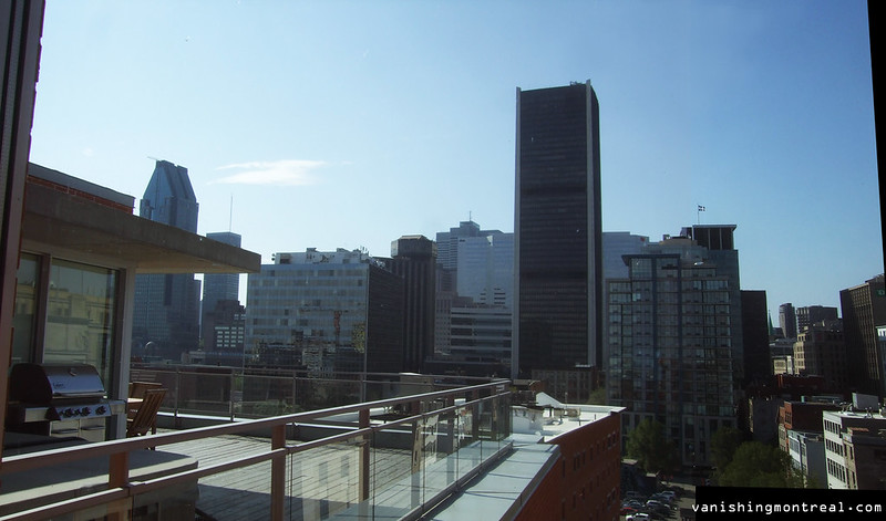 Photo of the Day : top floor of building on William - panoramic view