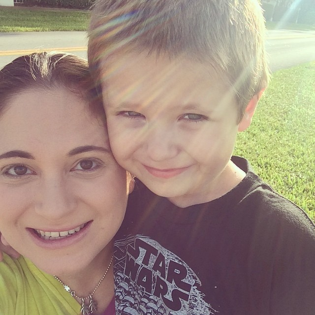 Me and my big boy waiting at the bus stop! He was such a grown-up boy as he got on the bus this morning to go to kindergarten!! I'm so excited to see how his first day of school goes. #kindergarten #kids #school #busstop #firstdayofschool