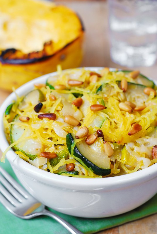 zucchini pasta recipe, spaghetti squash pasta