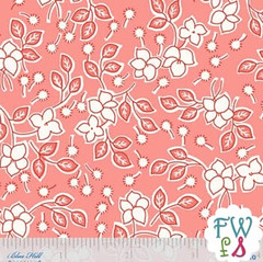 Toybox IV Flowers & Sprigs Pink - Blue Hill Fabrics