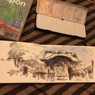 #japon #kyoto #bolígrafo #watercolor