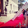 Apparently @cocteau is exhibiting #vervyandreckless by setting up the red carpet himself... #cuj15