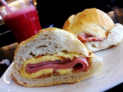 sandwich, meal, breakfast, ham and cheese sandwich, ciabatta, meat, food, dish, cuisine,