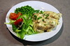 Chicken and Mushroom Vol-au-vent with Salad