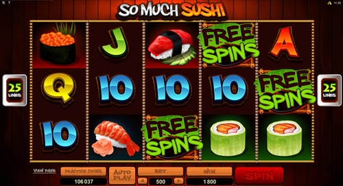 So Much Sushi Free Spins Feature