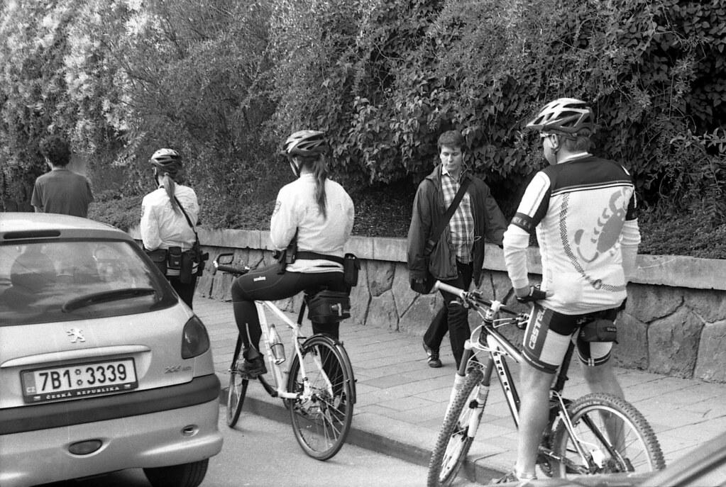 Praktica MTL5 with Helios-44M-4 - Scene with Cyclists