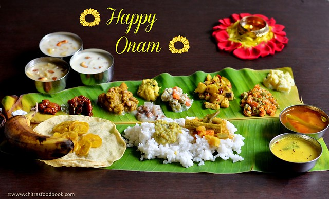 Onam sadya recipes kerala lunch menu chitras food book onam sadya forumfinder Gallery