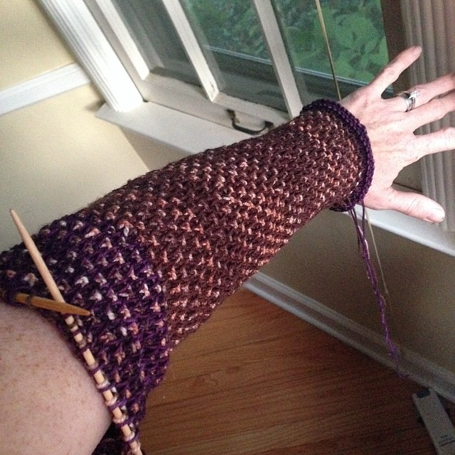 Reis, arm in progress #wip #knitting #stephenwest #reis