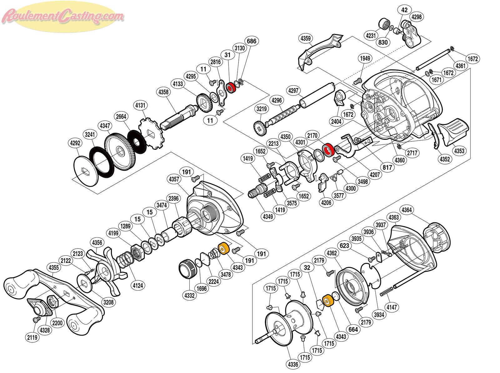 Schéma Shimano 12 Curado 201G6