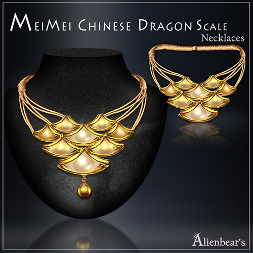 MeiMei Dragon Scale Necklace Creamy