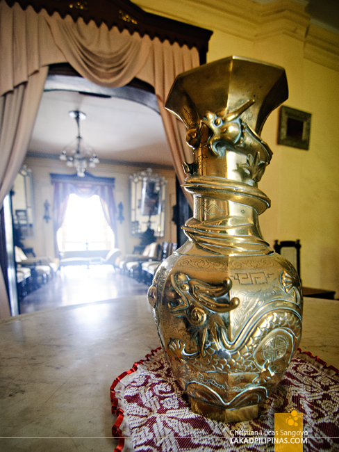 Gold Vase at Syquia Mansion in Vigan City