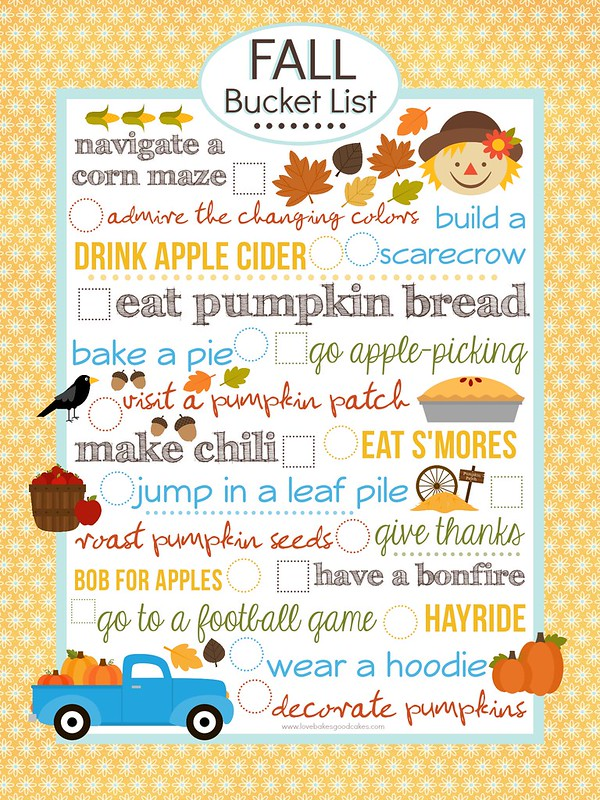 {FREE} Fall Bucket List Printable (8x10).