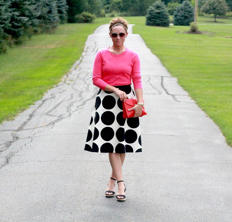 how to style the black and white boden nancy skirt via Kristina J blog