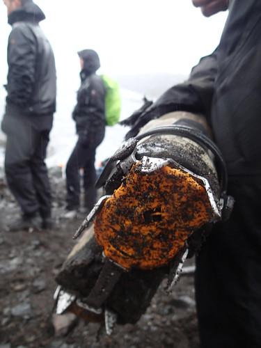 """Falljokull """"Falling Glacier"""" - outlet from Vatnajokull icecap"""