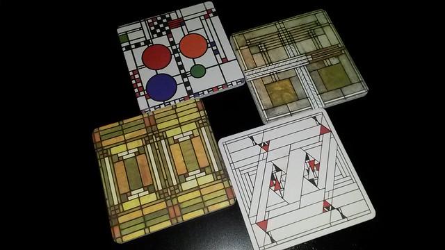 Frank Lloyd Wright coasters