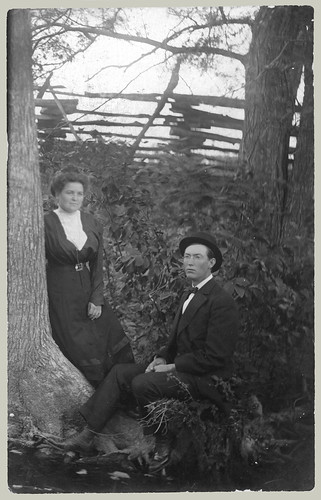 Man and Woman in woods