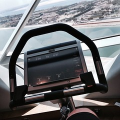 Ergometer session in the gym at Rayana Spa in Hyatt Capital Gate #InAbuDhabi