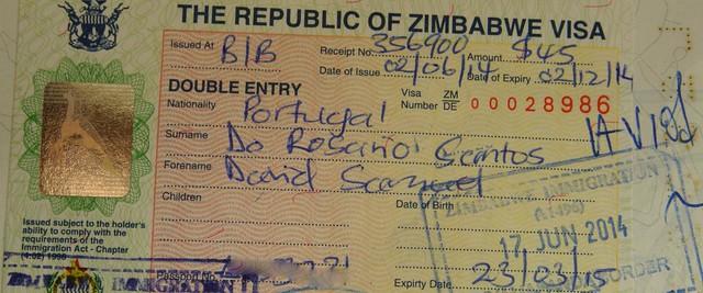 Visto Zimbabwe