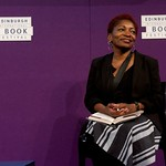 Bonnie Greer on stage at the Edinburgh International Book Festival |