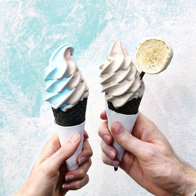 Can we talk about the dreamy dreamyness of swirling sea salt soft serve with Milo (choc malt)? That.  RJ went straight Milo w a toasted marshmallow because it's his birthday week (or because it's Tuesday, whatever ????). And let's be honest there's