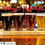 Join us tonight for Flight & Flatbread Night! 10$ gets you a flight of four (4oz) beers & a house made flatbread! Every Tuesday @rogueisland ! #flightandflatbread #beerflights #craftbeer #supportlocal #craftnotcrap