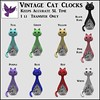 [ free bird ] Vintage Cat Clocks Key