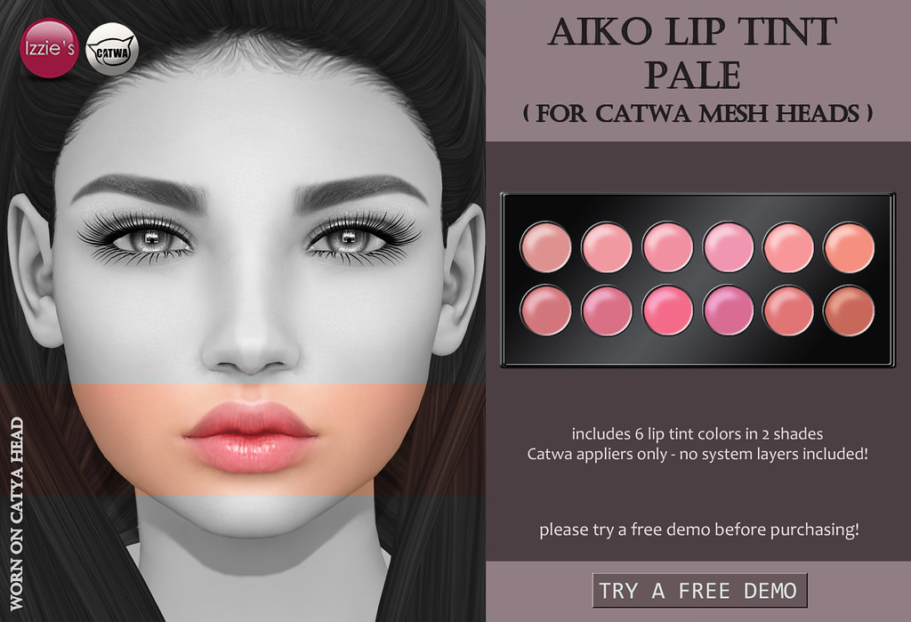 Aiko Lip Tint Pale CATWA (for FLF) - SecondLifeHub.com