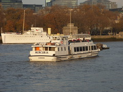 River Thames from the South Bank in London - boat - Mercuria London