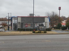 Front view, from the Hardee's across the street