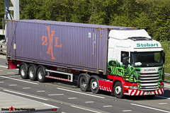 Scania R440 6x2 Tractor with 3 Axle Container Trailer - PK11 WPM - Lucy Caitlin - Eddie Stobart - M1 J10 Luton - Steven Gray - IMG_8002