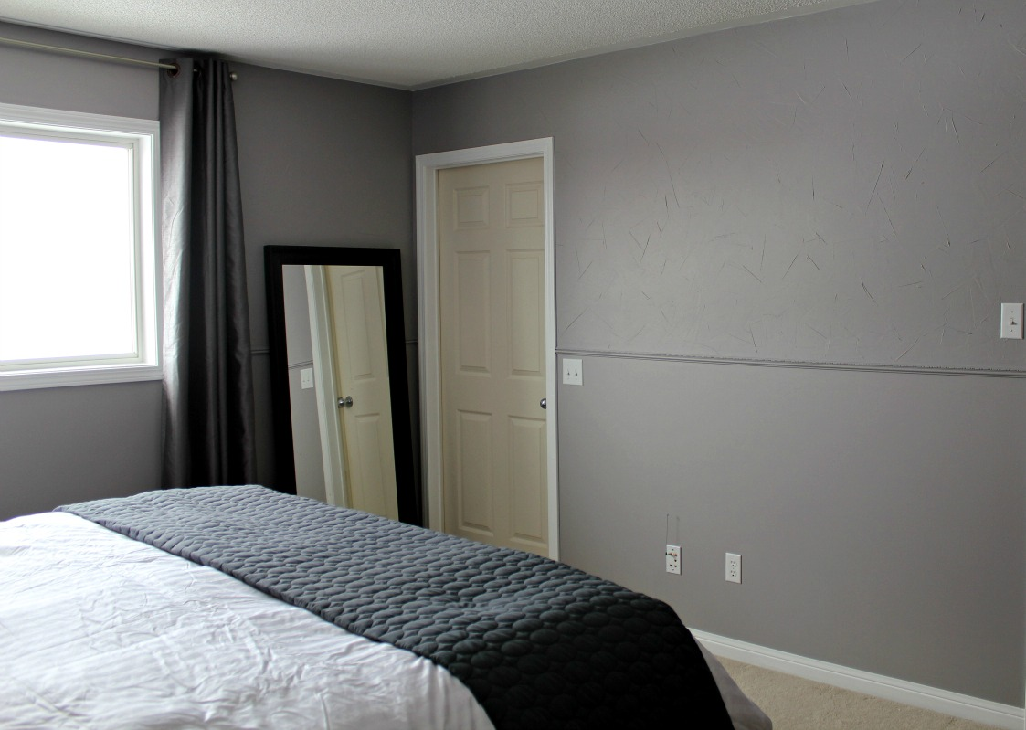 BM Stormy Monday grey master bedroom