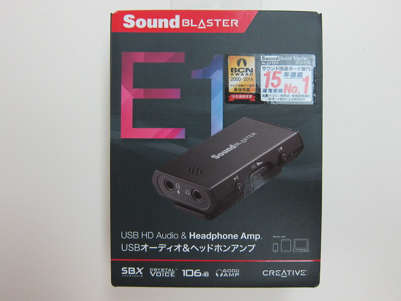 Sound Blaster E1 - Box Front