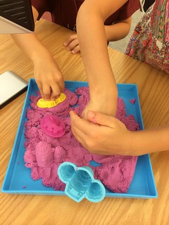 Kinetic Sand at the Reference Desk