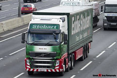 Volvo FH 6x2 Tractor with 3 Axle Curtainside Trailer - KW13 UCF - H4924 - Cherly Ann - Eddie Stobart - M1 J10 Luton - Steven Gray - IMG_5242