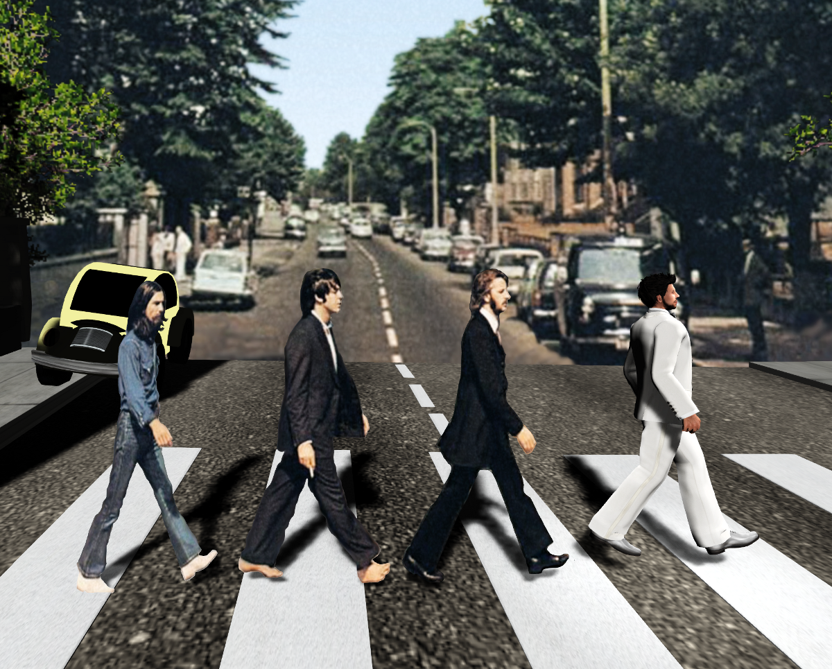 I was the walrus (after the Beatles' album Abbey Road)