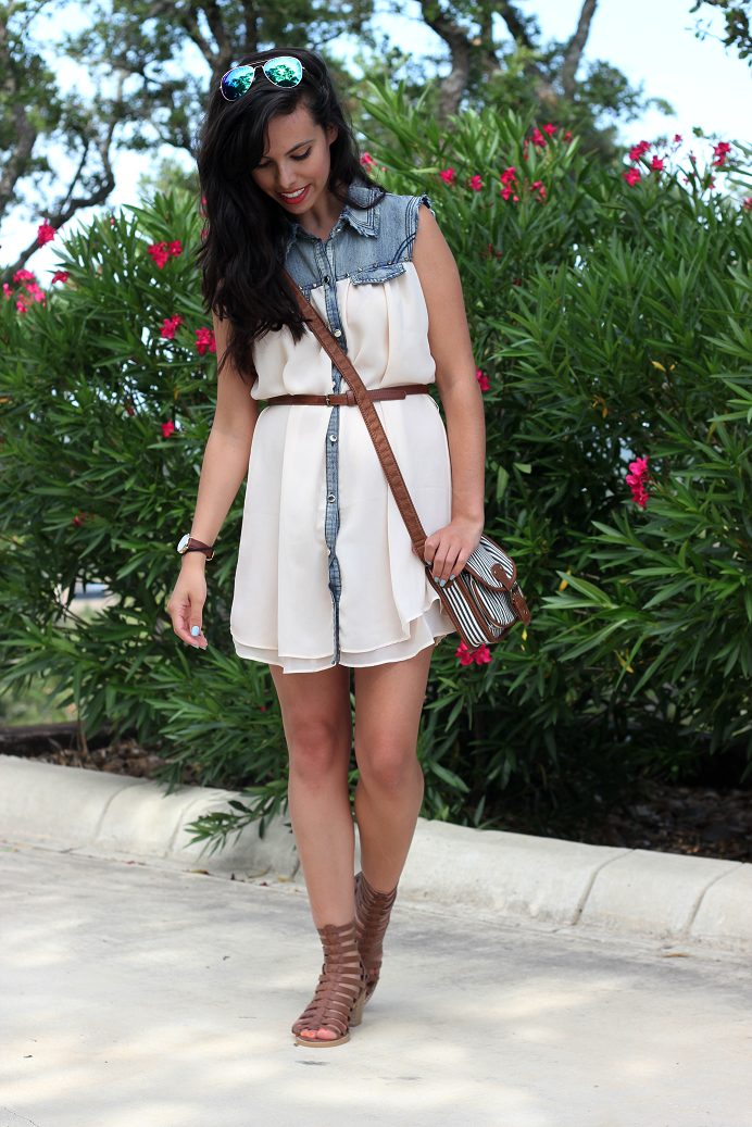 sheer and denim dress, austin texas style blogger, austin fashion blogger, austin texas fashion blog