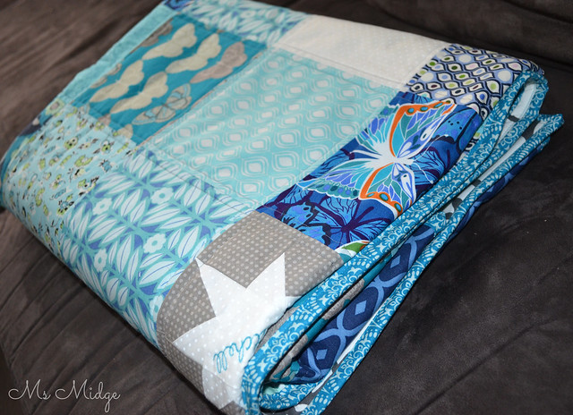 Blue Star Lap Quilt