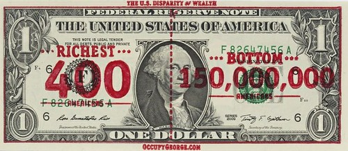 Occupy George overstamp note