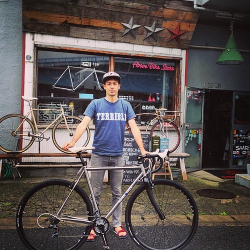 生憎の雨の日ですが納車させて頂きました。 Thanks Arex ! Welcome to the rodeo mudman's nest! #mudman #steelera #abovebikestore #abscc #swampthings